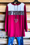 Flurries Forever Tunic - Ruby Red - SALE