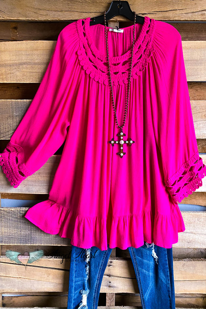 Playfully Perfect Top -Hot Pink