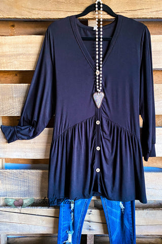 AHB EXCLUSIVE: Romantic Lines Tunic - Black