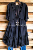 Light Romance Dress - Black
