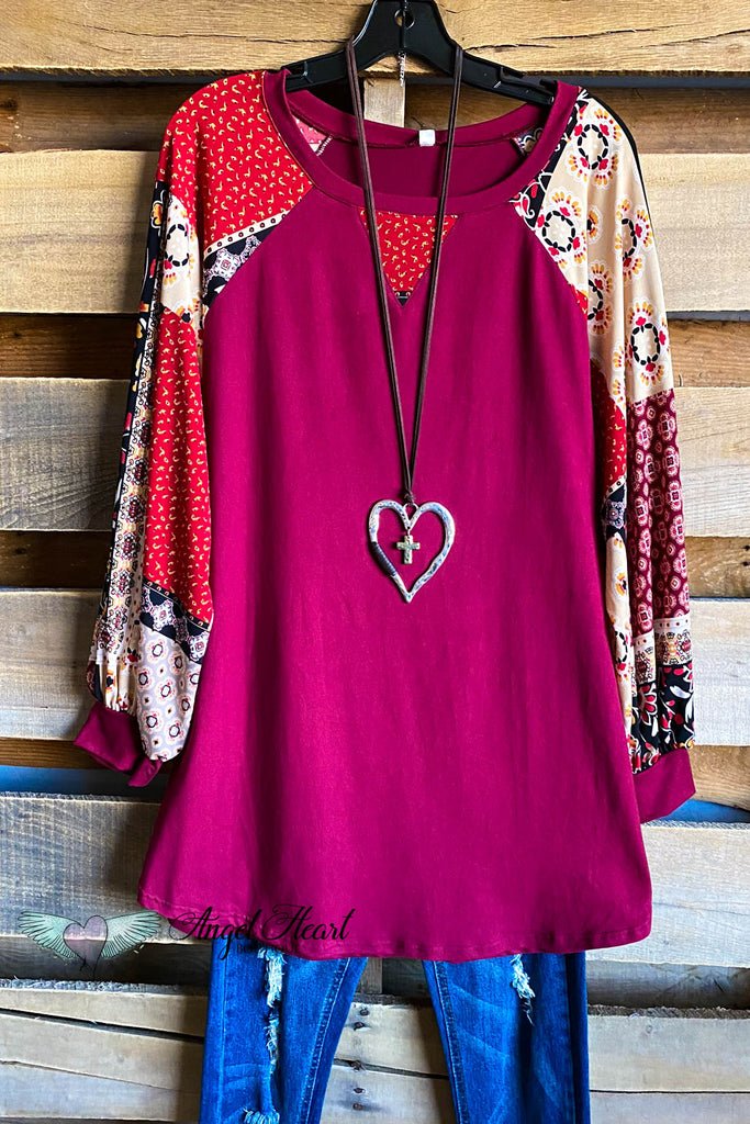 Going My Own Way Tunic - Wine