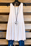 Polka Dot Sleeveless Summer Top - Ivory