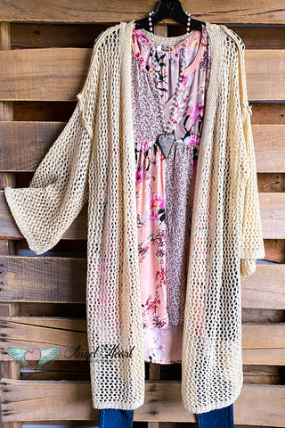 Lace & Shine Cardigan - Mocha