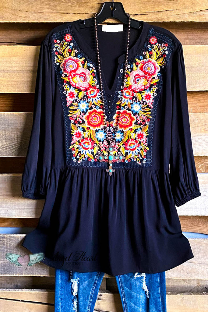 Another Day Out Tunic - Black