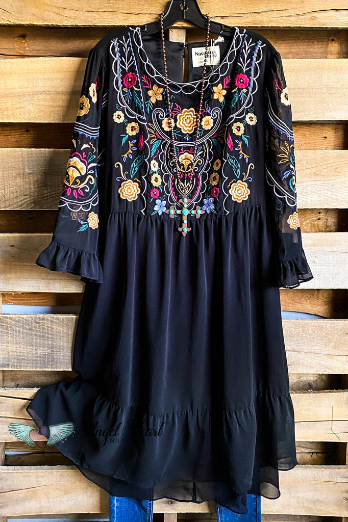 Soak Up The Night Dress - Black