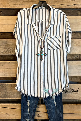 Walk the Line Top - Navy