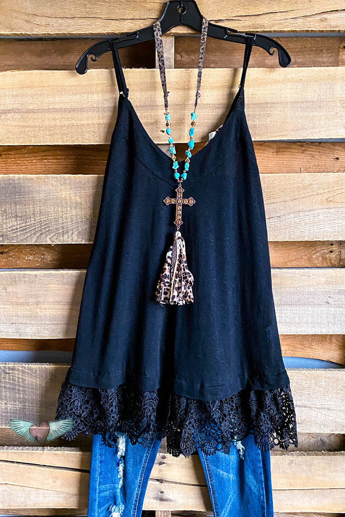 Soft and Sophisticated Tank - Black