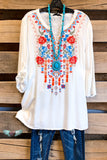 AHB EXCLUSIVE: Don't Close Your Eyes Tunic - Ivory
