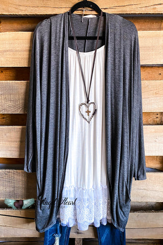 AHB EXCLUSIVE: The It Girl Oversized Loose Fitting Tunic - Gray