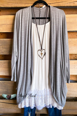 In The Tones Cardigan - Grey/Blush