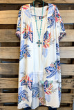 A Way To Your Heart Short Sleeve Kimono with Tassels - White