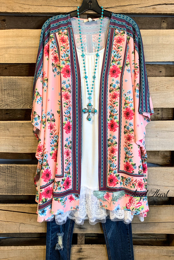 You Light Up My Life Kimono - Pink - SALE