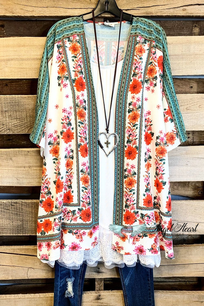 You Light Up My Life Kimono - Cream - SALE