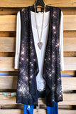 AHB EXCLUSIVE - Rhinestones Vest- Black/Rainbow