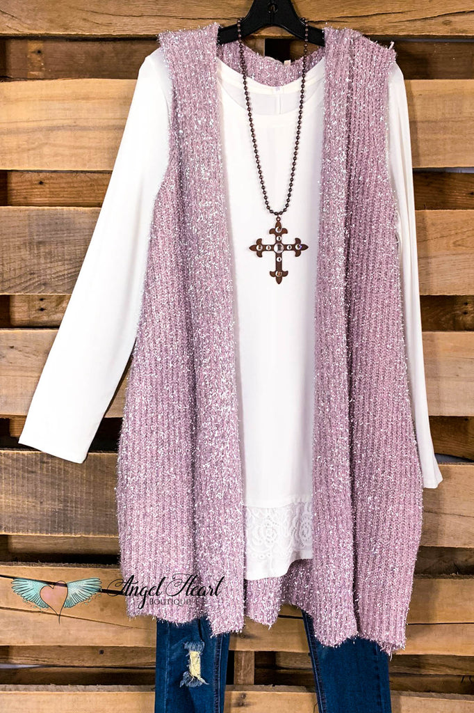 AHB EXCLUSIVE: All Around Amazed Vest - Dusty Rose- SALE
