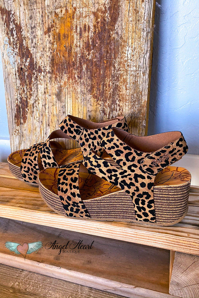 Staying Up Late Wedges - Leopard