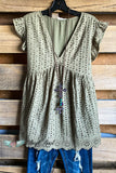 Usual Days Top - Olive