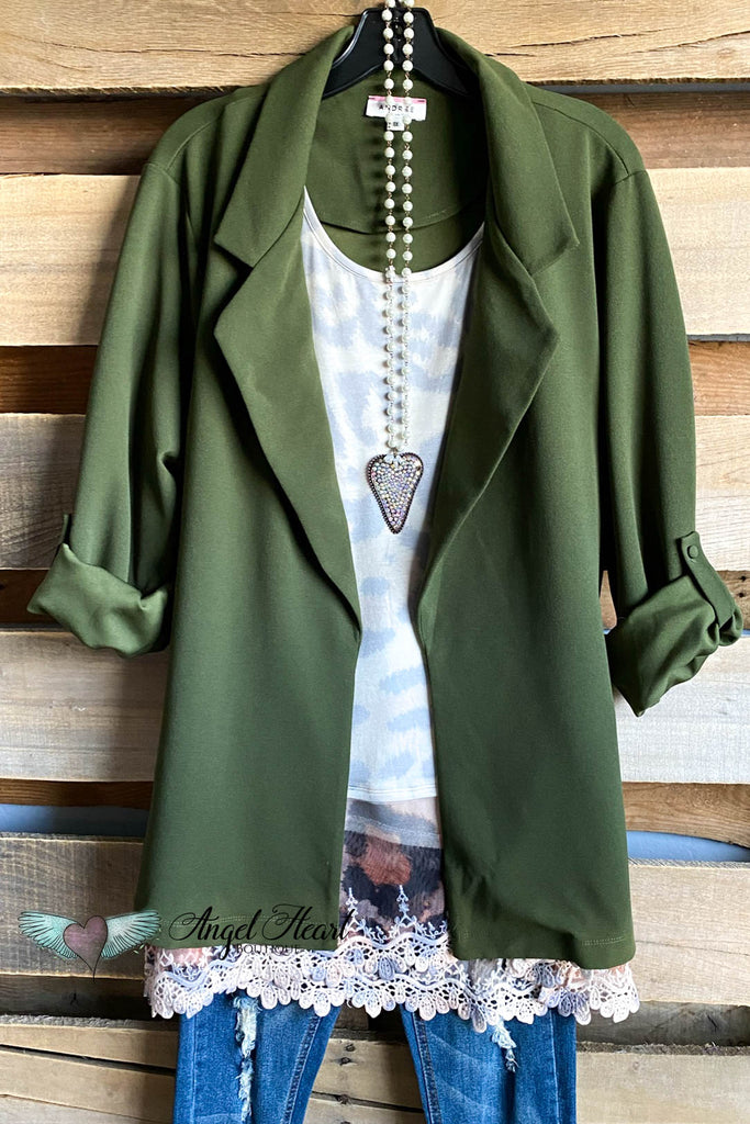 Dance All Night Jacket -Olive