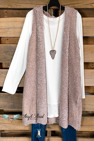 Warms My Heart Cardigan - Blue Grey - SALE