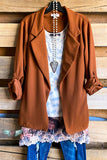 Dance All Night Jacket - Chestnut