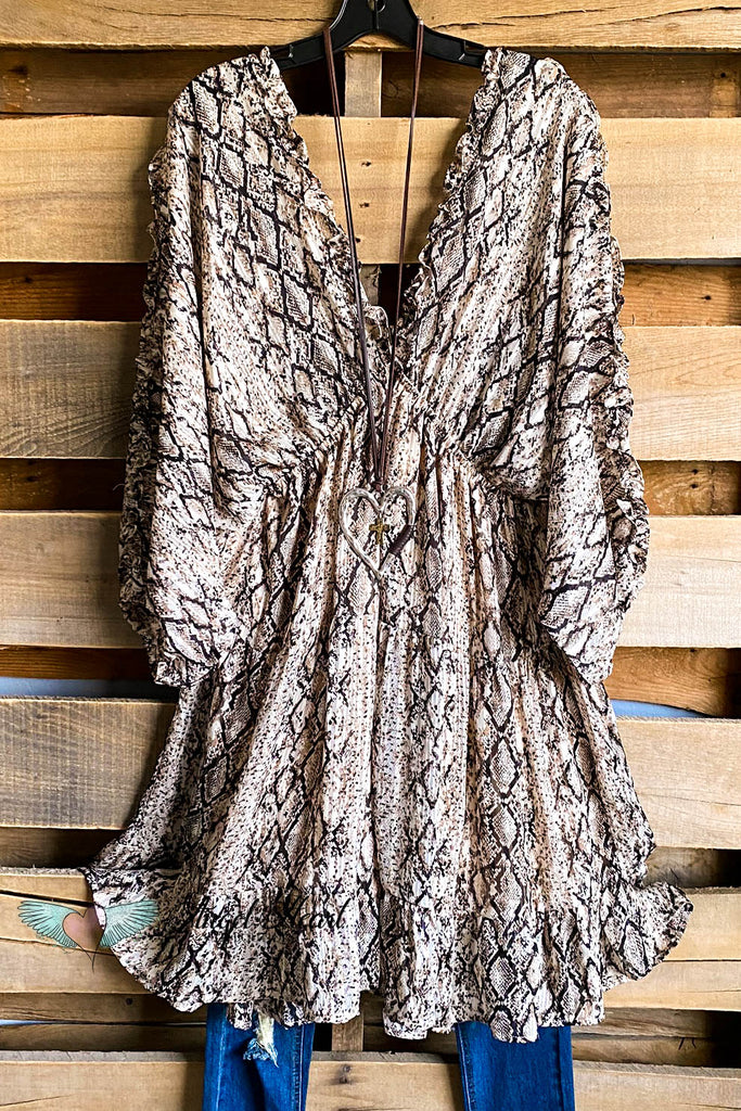Stuck On You Dress - Brown Mix