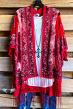 AHB ECLUSIVE: Finding My Balance Kimono - Red