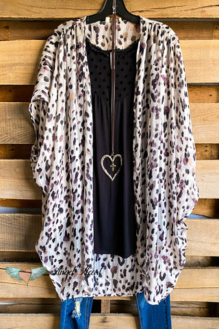 Go For It Crochet Cardigan - Leopard - 100% COTTON