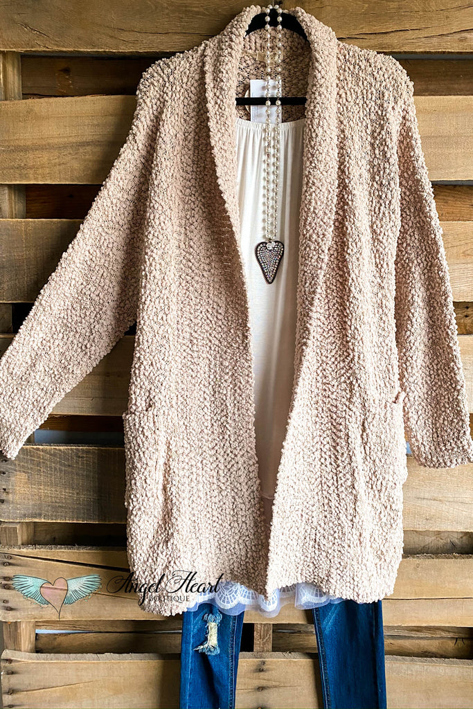Cooling Off Sweater Cardigan - Taupe - SALE
