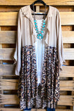 AHB EXCLUSIVE: Run With Me Cardigan - Taupe/Leopard