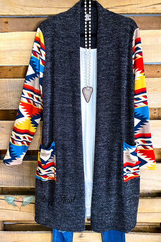 AHB EXCLUSIVE: Classic Moment Cardigan/Kimono - Black