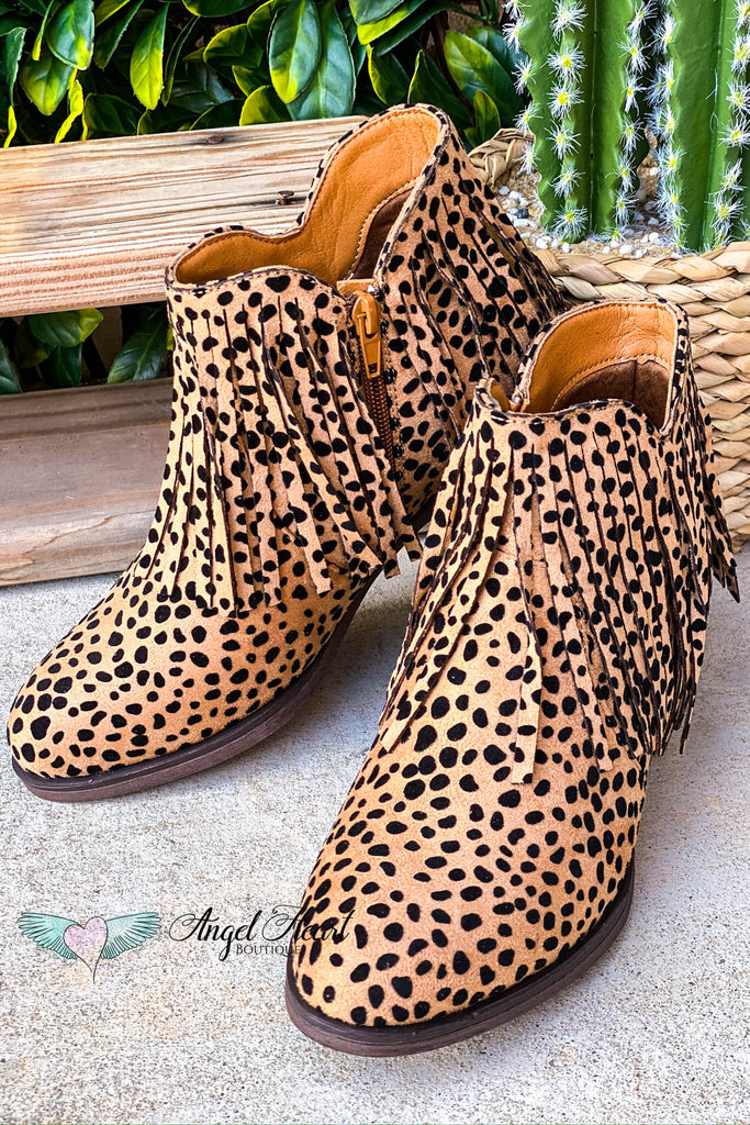 She Will Be Loved Booties - Cheetah Print