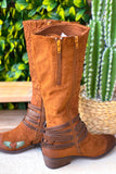 Rolling In The Deep Boots - Whisky Comb - Double Zipper (wide Calf)