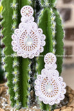 Debbie White Earrings