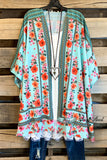 You Light Up My Life Kimono - Mint - SALE