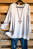 My Everything Tunic - Lt Grey