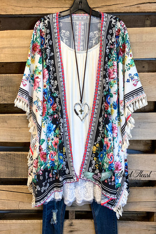 You're My Sweetheart Lace Cardigan - Black