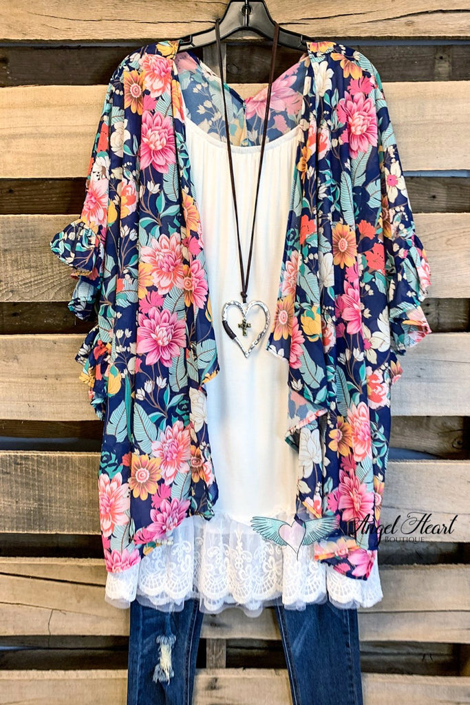 Just As You are Kimono - Navy