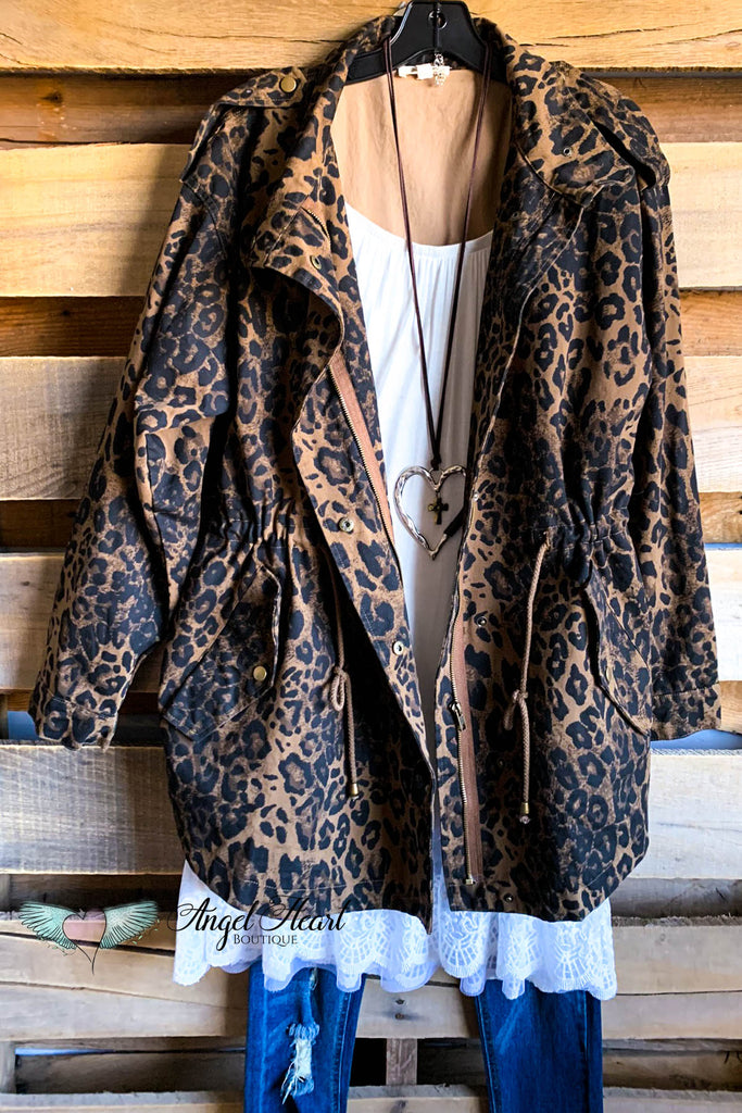 Military Chic Jacket - Leopard - SALE