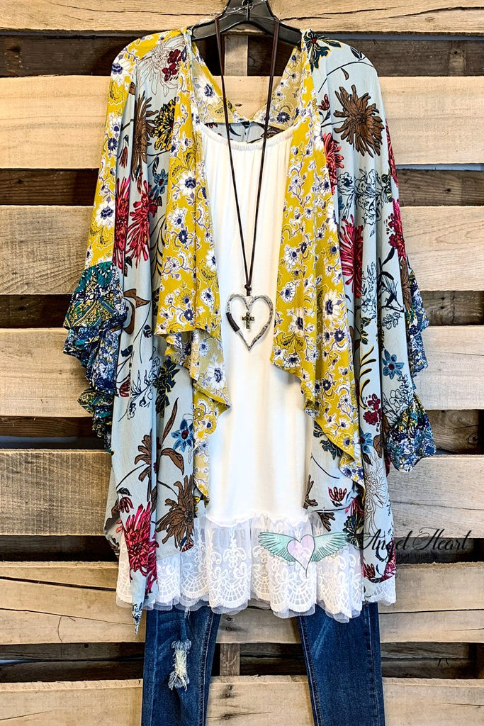 Devoted To Love Kimono - Sage
