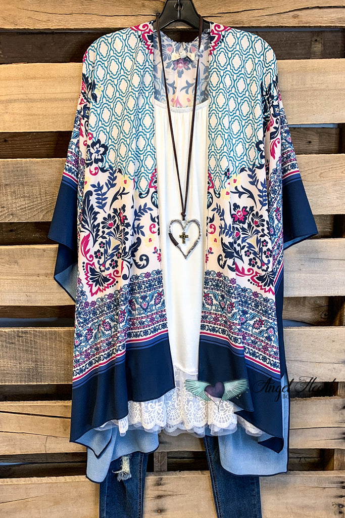 Blissfull Days Kimono - Teal/Navy - SALE