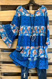 Surrounded  By Beauty Dress - Blue - 100% COTTON - SALE