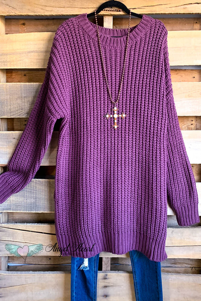 Dreams Coming True Sweater - Eggplant