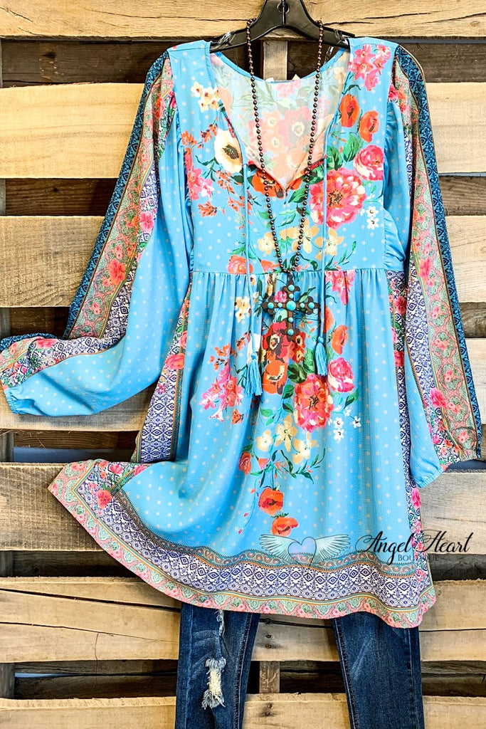 Spring Enchantment Dress - Blue