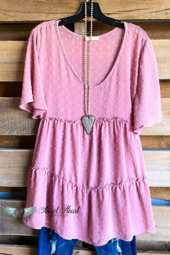 Steal My Heart Blouse - Pink