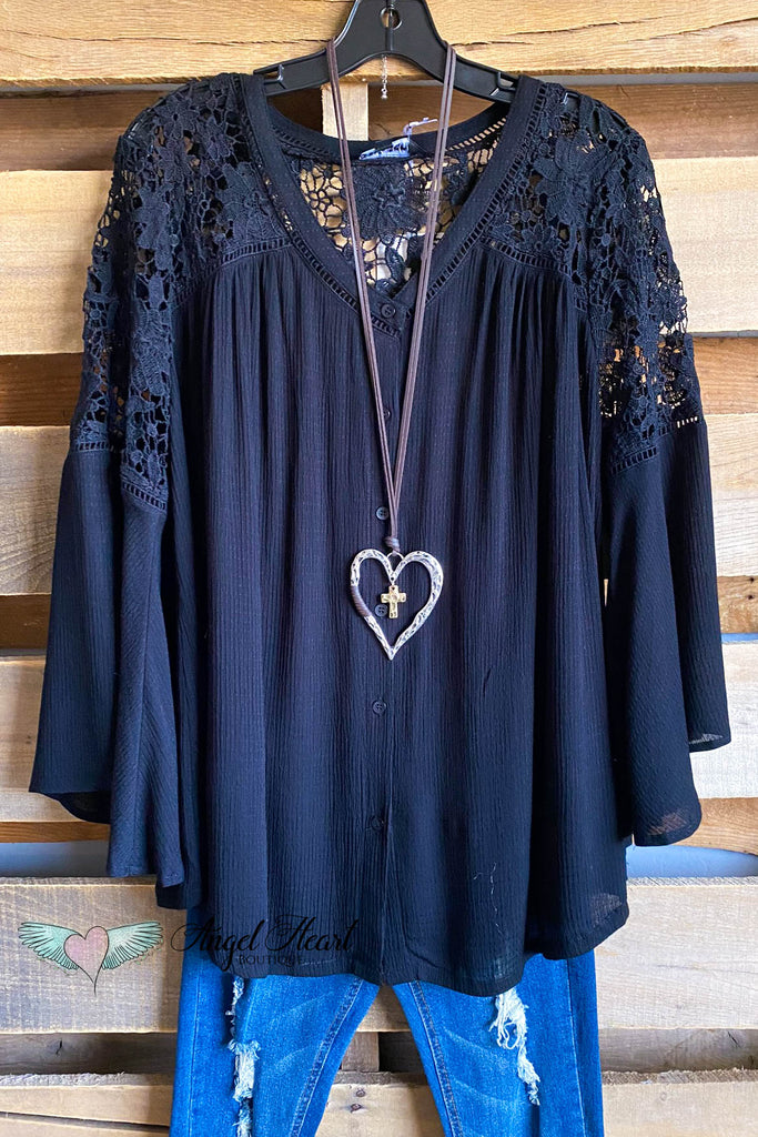 Wild in Happiness Tunic - Black