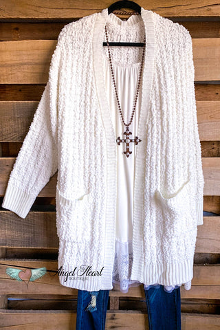 All I Really Want Crochet Cardigan -Mocha