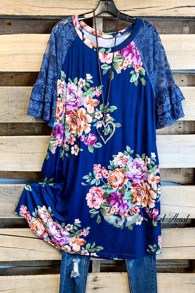 Taking My Time Dress - Navy