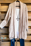 Cooling Off Sweater Cardigan - Natural