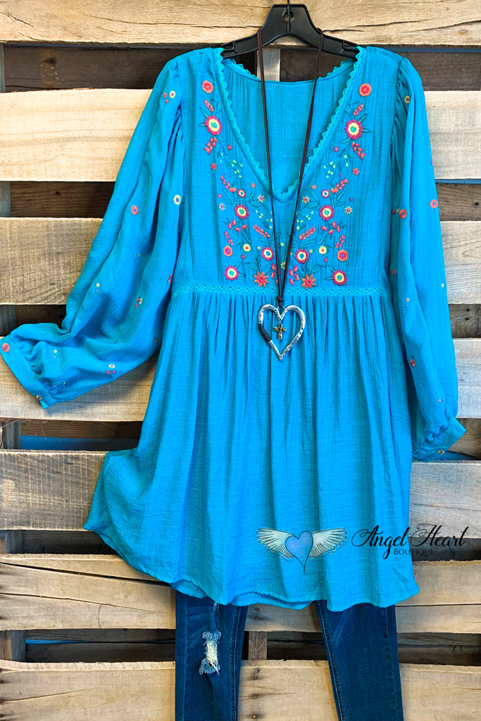Driven By Love Dress - Turquoise