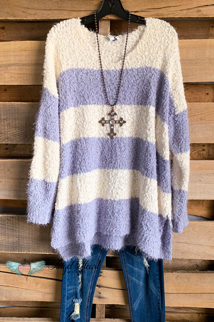 Cappuccino Morning Sweater - Blue Grey